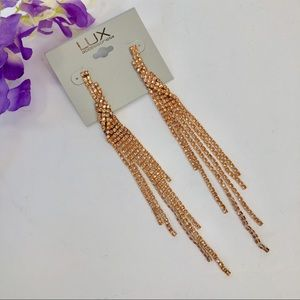 Lux Rose Gold Statement Earrings